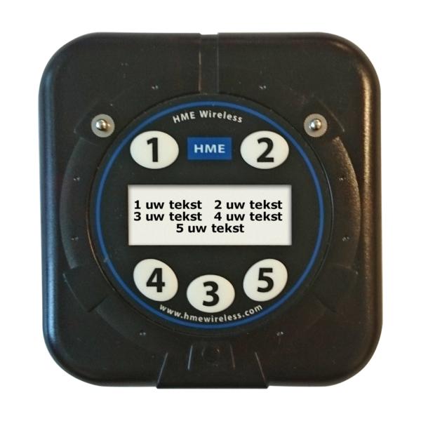 5 Knops Oproepcoaster Transmitter
