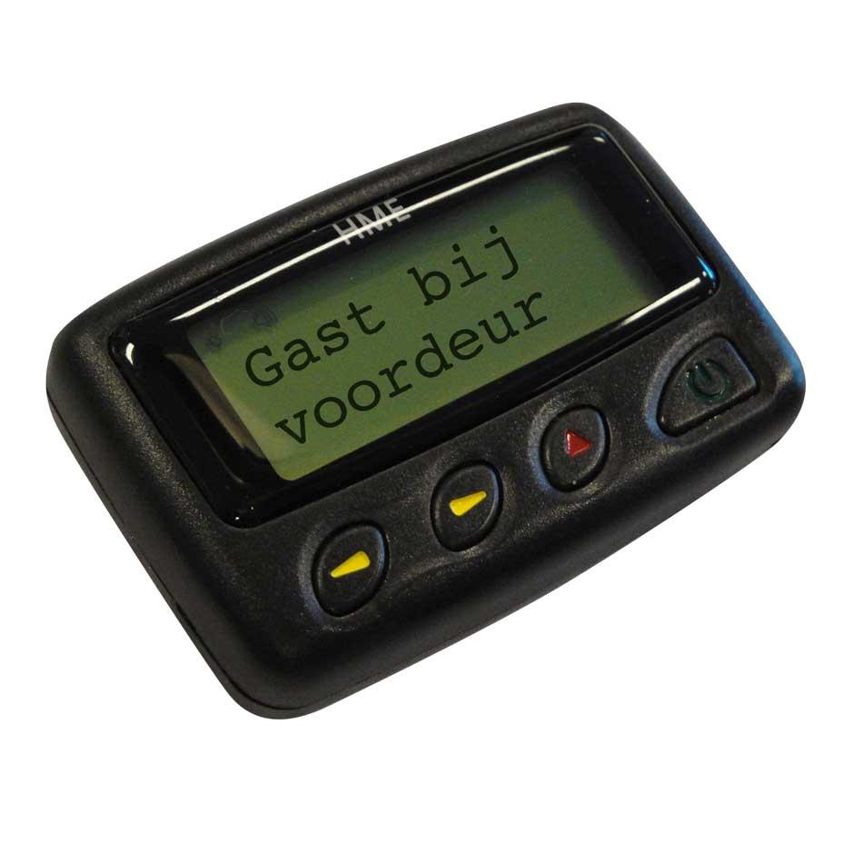 Alpha Pager Belt Clip Batterij Geladen Gast Bij Voordeur
