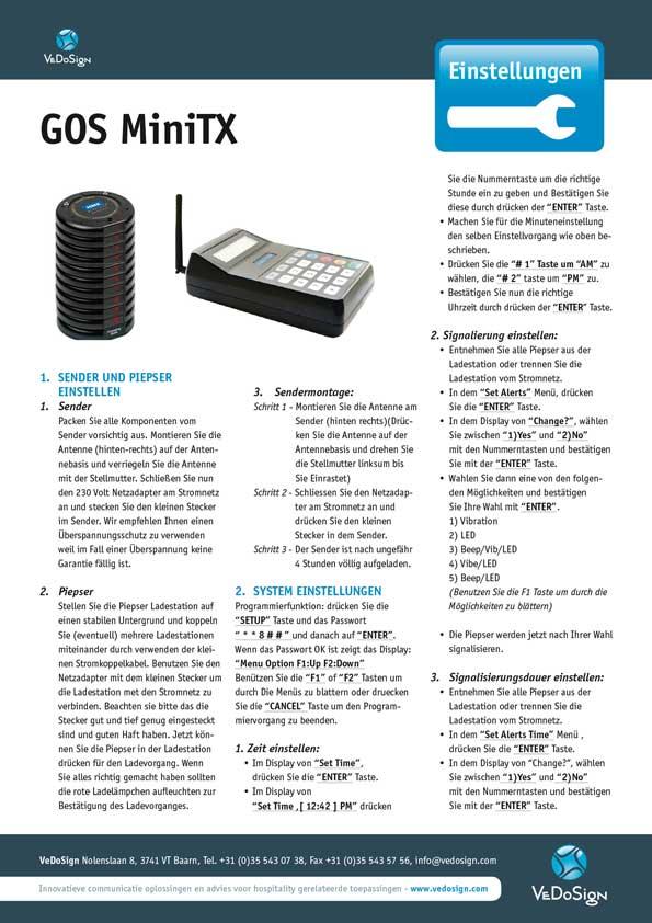 Anleitung GOS MiniTX