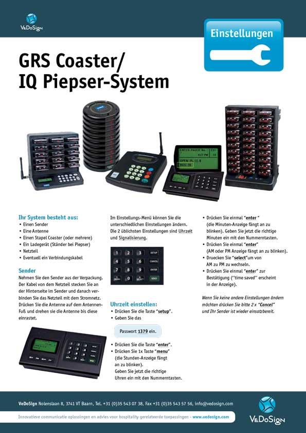 Anleitung GRS Coaster IQ Piepser System