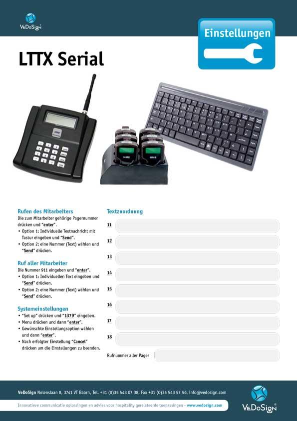 Anleitung LTTX Serial Daten Eingeben
