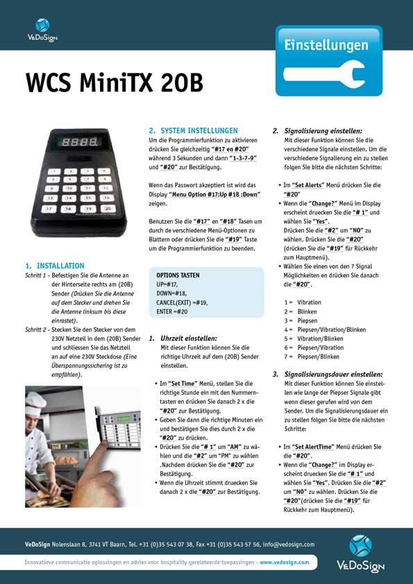 Anleitung WCS MiniTX 20B