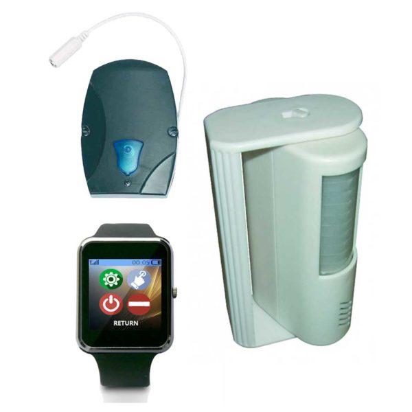 Bewegingssensor Oproepsysteem Met 1 Smartwatch POCSAG Pager