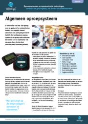 Brochure Algemeen Oproepsysteem