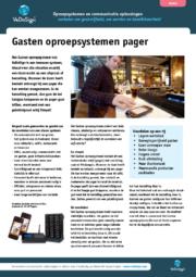 Brochure Gasten Oproepsysteem Pager