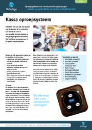Brochure Kassa Oproepsysteem