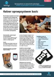 Brochure Kelner Oproepsysteem Basic