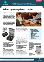 Brochure Kelner Oproepsysteem Coaster