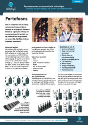 Brochure Portofoons VeDoSign