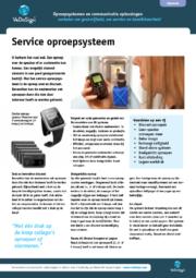 Brochure Service Oproepsysteem