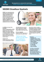Brochure VOCOVO Draadloze Headset