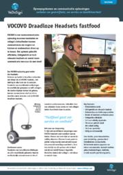 Brochure VOCOVO Draadloze Headset Fastfood