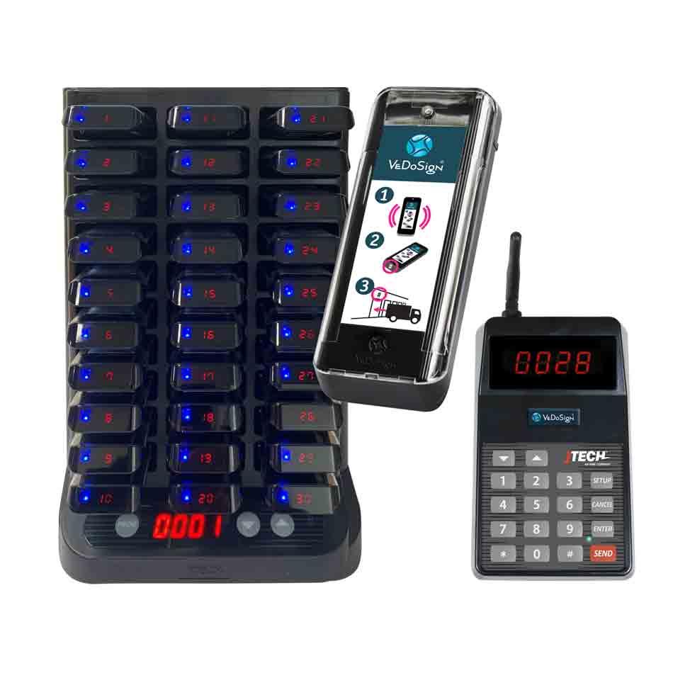 Chauffeur Docknummer Oproepsysteem Met 30 Pagers(buzzers)