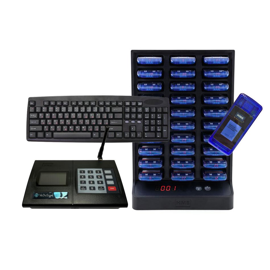 Compleet IQ C ALPHA Oproepsysteem Met 30 IQ Colour Pagers