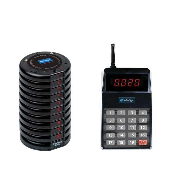 Compleet Touch&Go 20B Gasten Oproepsysteem Met 10 Coasters