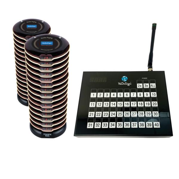 Compleet Touch&Go 40B Gasten Oproepsysteem Met 30 (2x15) Premium Coasters