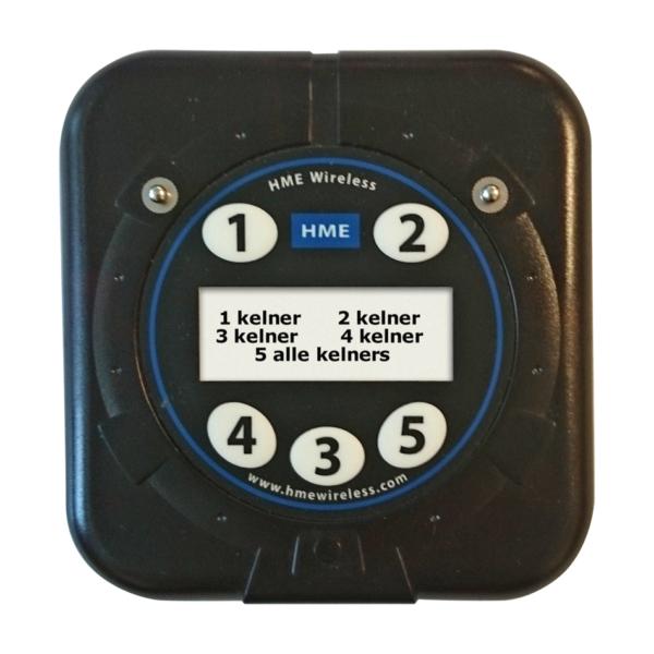 Eenvoudige Keukenoproep Transmitter Voor 5 Kelners