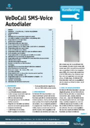 Handleiding VeDoCall SMS Voice Autodialer NL