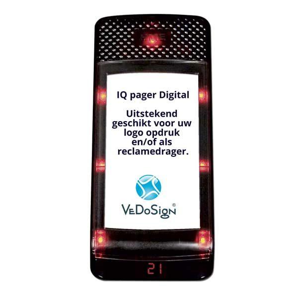 IQ Pager Digitaal Gasten Oproep Buzzer Met Eigen Logo Sponsoring