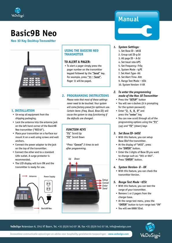 Manual Basic9B Neo