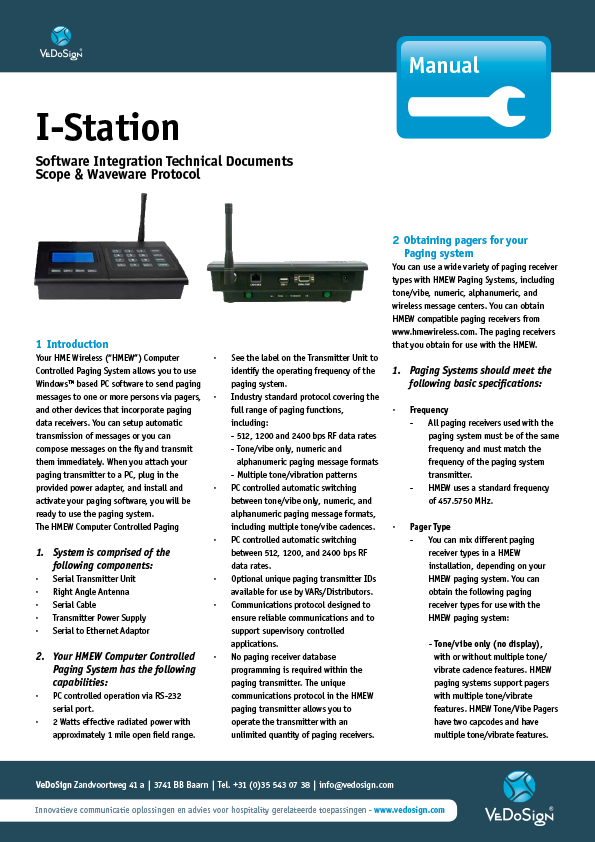 Manual I Station - Software Integration