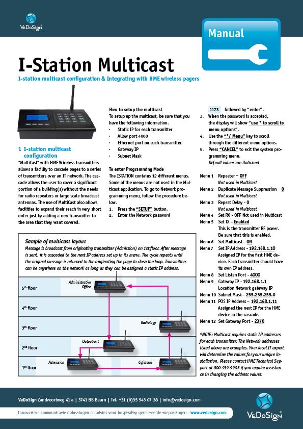 Manual Station Multicast GB
