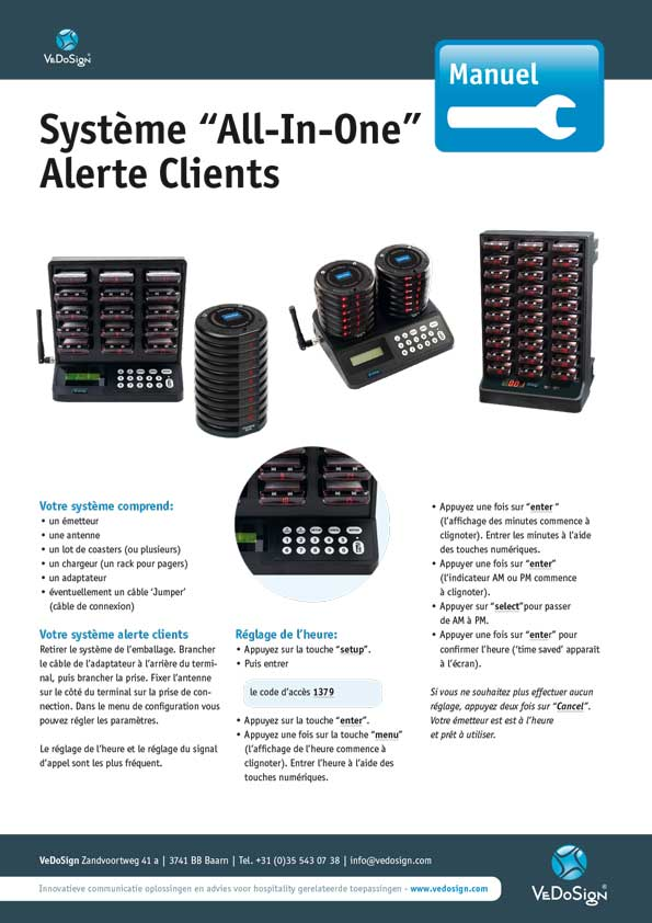 Manuel Systeme All In One Alerte Clients