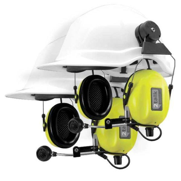 SWATCOM 2talk Headset Systeem Met 2 Headsets Met Helm Bevestiging Geel