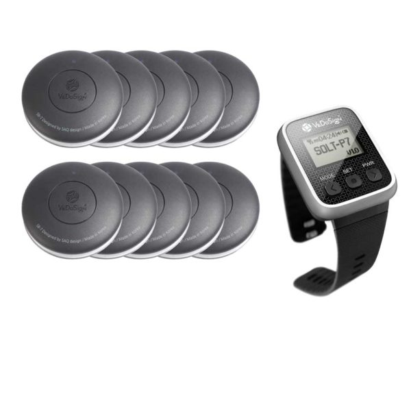 Service Oproepsysteem Premium 1 Knops 10 Knoppen 1 Horloge