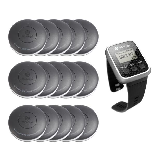 Service Oproepsysteem Premium 1 Knops 15 Knoppen 1 Horloge