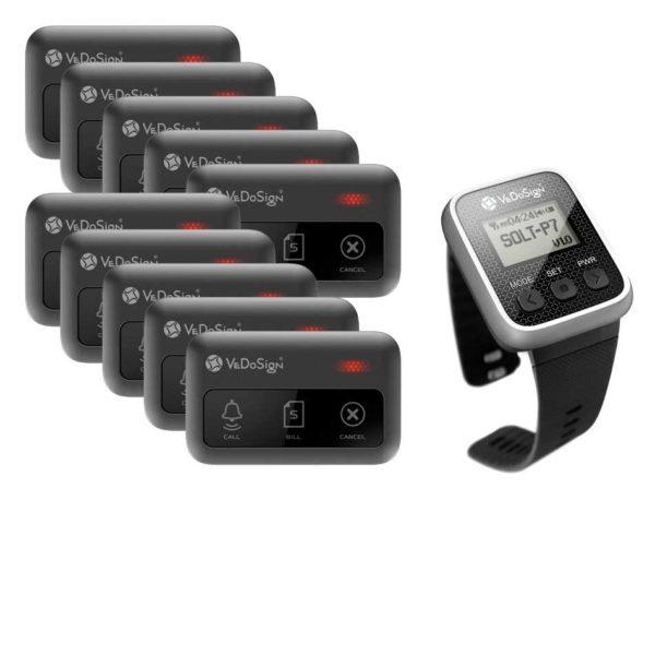 Service Oproepsysteem Premium 3 Knops 10 Knoppen 1 Horloge