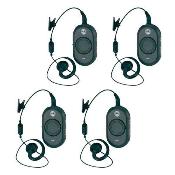 Set 4 Motorola CLP446 Portofoons Met Oortje En Oplader