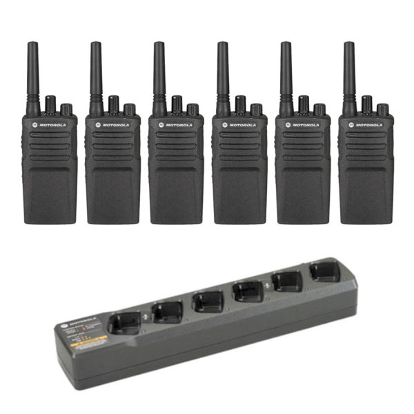 Set Van 6 Motorola XT420 Portofoons Met Multilader