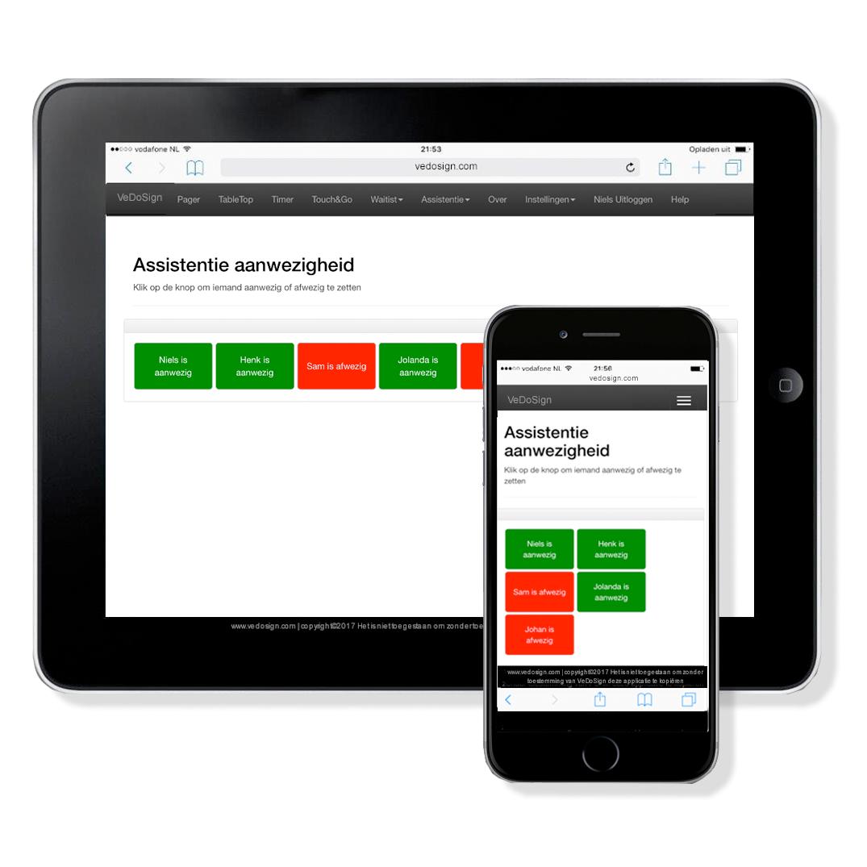 Paging Software Assistentie Module Ipad Iphone Standaard