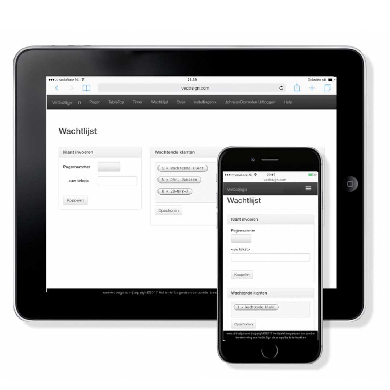 Software Wachtlijst Module Ipad Iphone Standaard