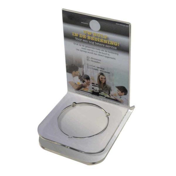 Tafelstandaard Coaster Met (menu)kaarthouder