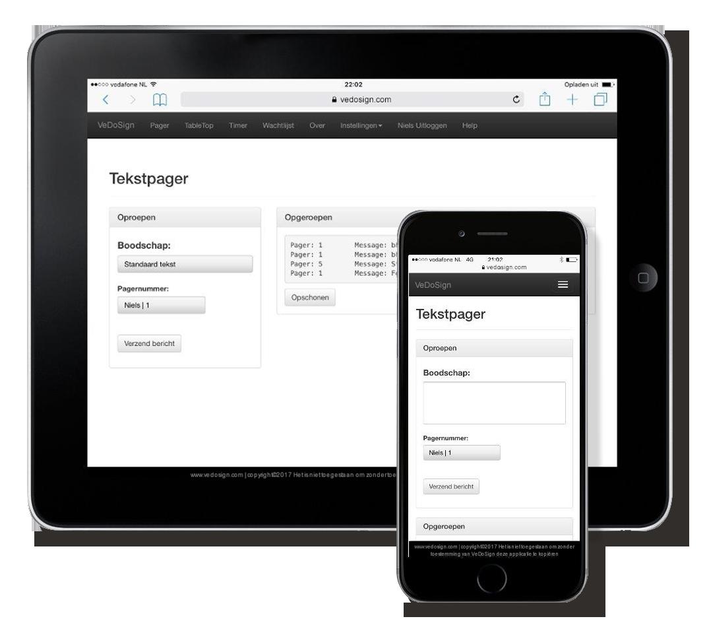 Tekstpager Ipad Iphone Standaard