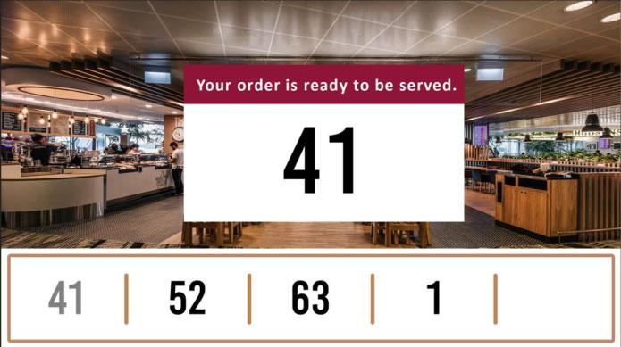 Ticket Afroepsysteem Voor Fastfood Restaurants