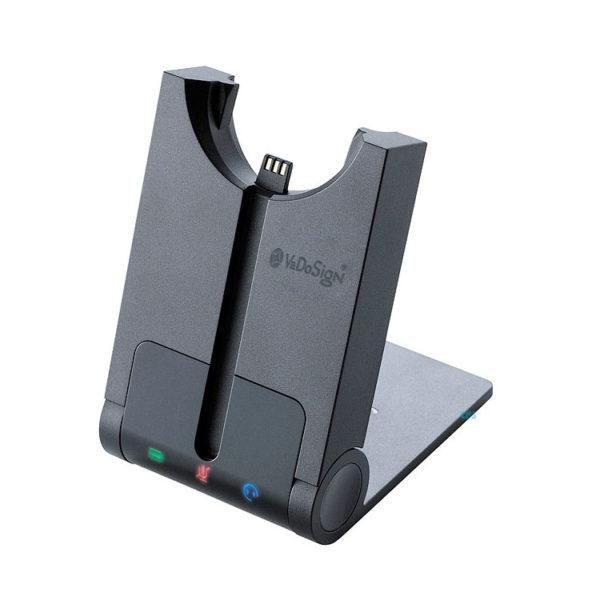 VoCoVo Enkelvoudige Lader Voor 1 Headset Schuin